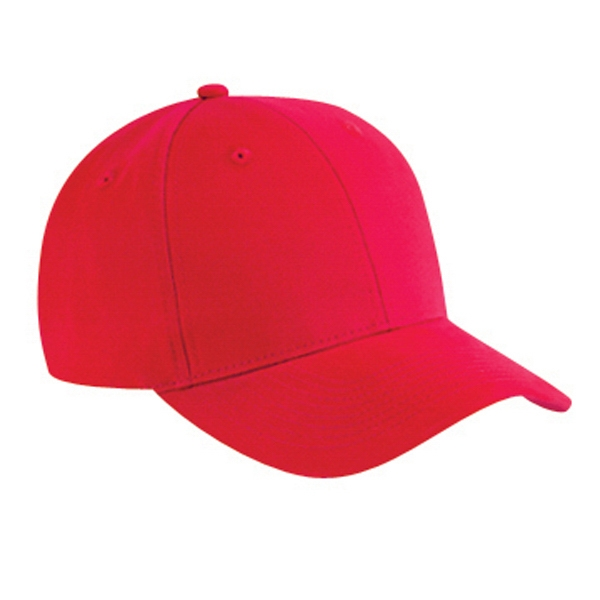 Six Panel Low Profile Pro Style Cap In Brushed Cotton Twill With Low Fitting. Blank Photo