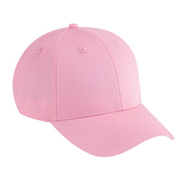 Low Fitting Structured Six Panel Cotton Twill Pro Style Cap With Low Profile. Blank Photo