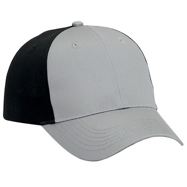 Cotton Twill Six Panel Low Profile Pro Style Cap. Blank Photo