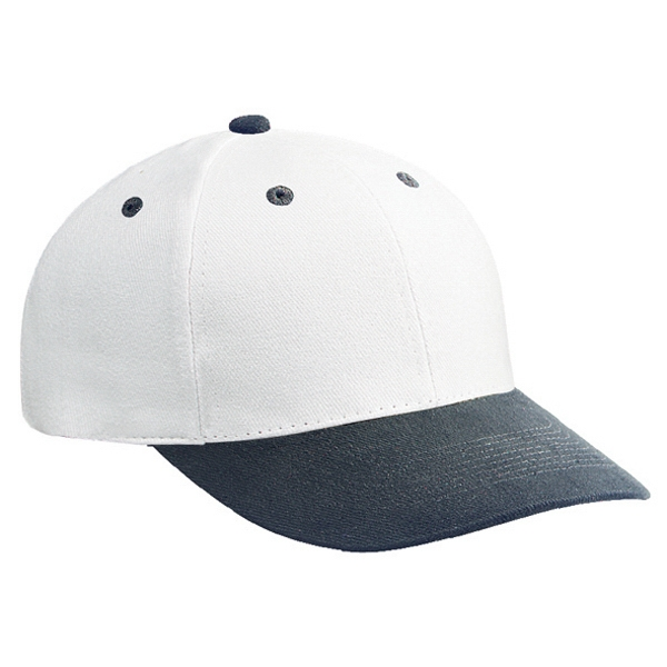 Structured Two-tone Pro Style Cap In Brushed Bull Denim With Firm Front Panel. Blank Photo