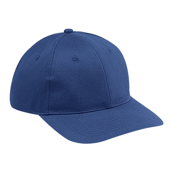 Brushed Cotton Twill Pro Style Cap With Six Panels, 65% Polyester 35% Cotton. Blank Photo