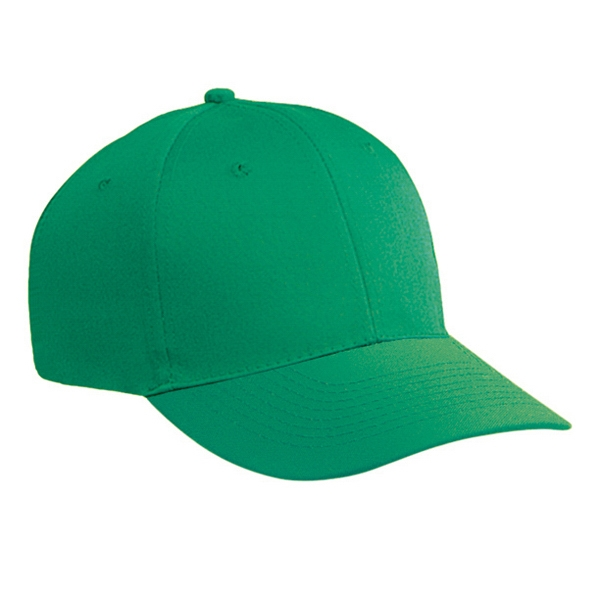 Cotton Twill Six Panel Low Profile Pro Style Cap With Plastic Snap Closure. Blank Photo