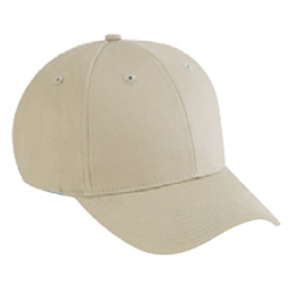 Structured Six Panel Cotton Twill Pro Style Cap Features Firm Front Panel. Blank Photo