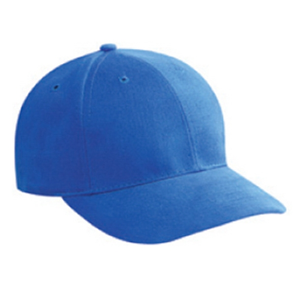 Low Profile, Brushed Bull Denim 100% Cotton Pro Style Cap With Low Fitting. Blank Photo