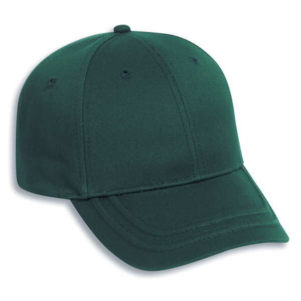 Six Panel Deluxe Cotton Twill Pro Style Cap With Low Profile. Blank Photo