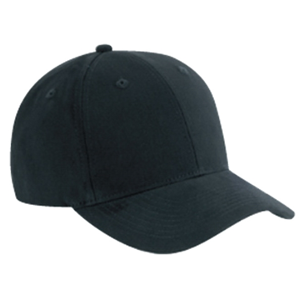 Solid Color, Six Panel Brushed Cotton Twill Pro Style Cap With Low Profile. Blank Photo