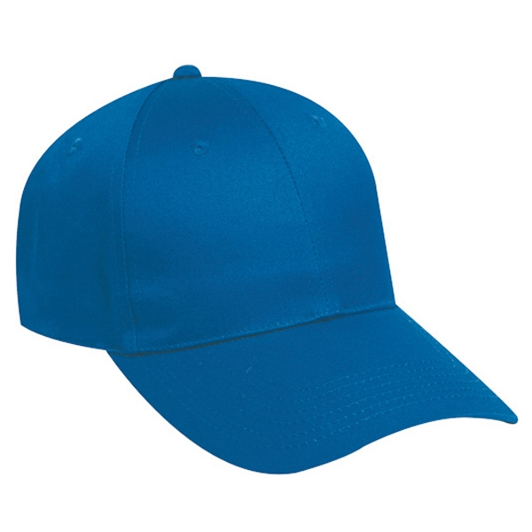 Low Fitting, Structured Six Panel Cotton Twill Pro Style Cap With Long Visor. Blank Photo