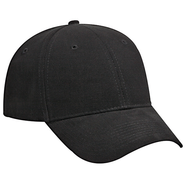 Structured, Low Fitting Brushed Cotton Canvas Low Profile Pro Style Cap. Blank Photo