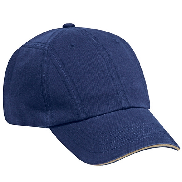 Twelve Panel Superior Garment Washed Cotton Twill Pro Style Cap. Blank Photo