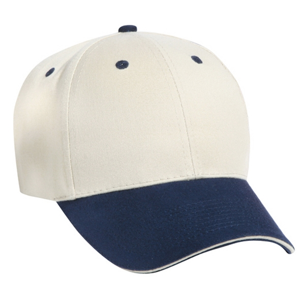 Polyester/cotton Two Tone Low-fitting Pro Style Cap With Six Panels. Blank Photo