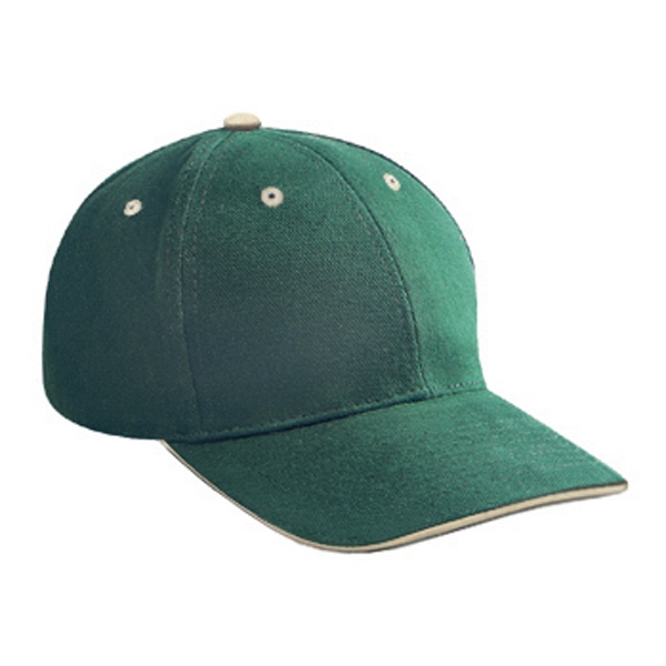Low-fitting Brushed Bull Denim Pro Style Cap With Sandwich Visor. Blank Photo