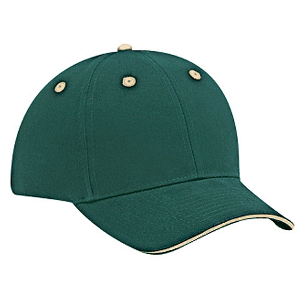 Solid Color Sandwich Visor Cap With Adjustable Hook And Loop Closure. Blank Photo