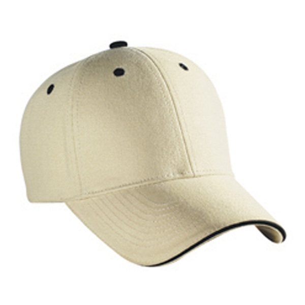 Solid Color, Low-fitting Six Panel Brushed Cotton Canvas Pro Style Cap. Blank Photo