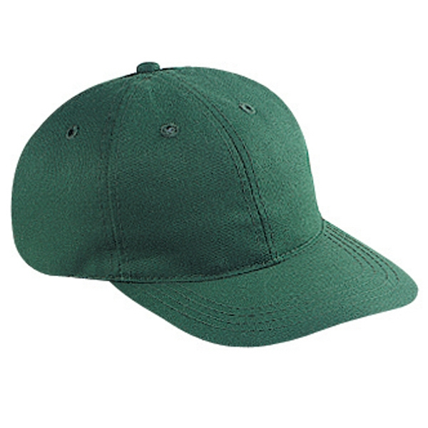 Brushed Cotton Twill Six Panel Pro Style Cap With Bendable Soft Visor. Blank Photo