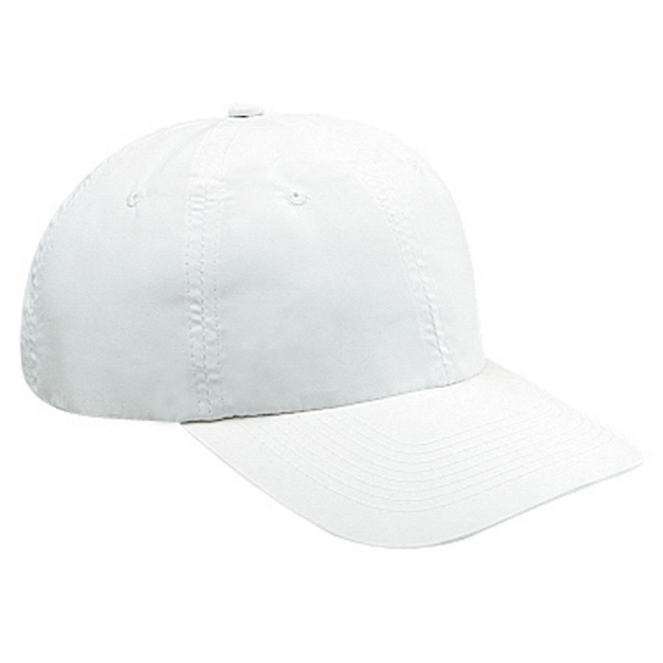 Polyester Microfiber Six Panel Pro Style Cap With Bendable Soft Visor. Blank Photo