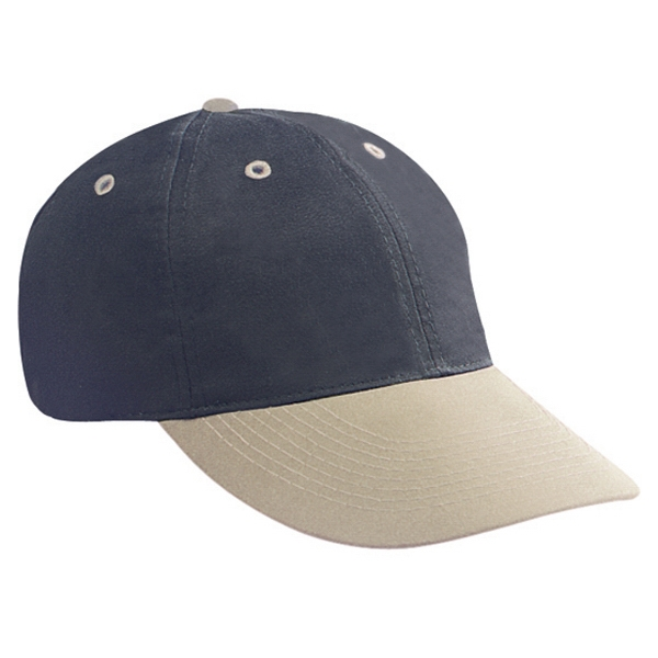 Low Fitting, Two-tone Brushed Polyester/cotton Twill Polo Pro Style Cap. Blank Photo