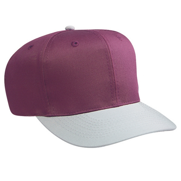 Two Tone Six Panel Structured Pro Style Cap With Plastic Snap. Blank Photo