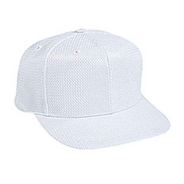 Structured Six Panel Polyester Jersey Knit Pro Style Cap With Plastic Snap. Blank Photo