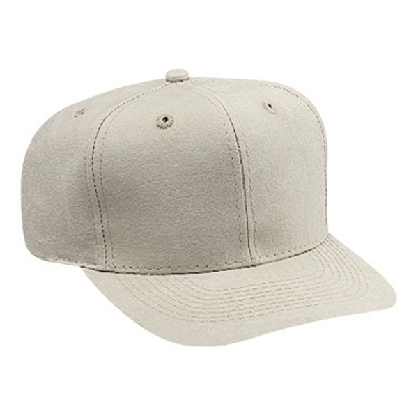 Pro Style Washed Canvas Six Panel Cap With Plastic Snap. Blank Photo