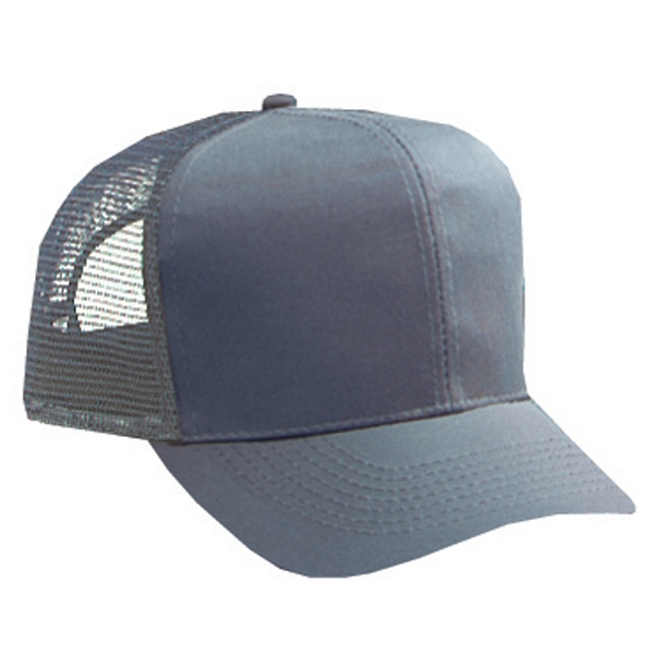 Structured, Solid Color Pro Style Mesh Back Cap With And Plastic Snap. Blank Photo