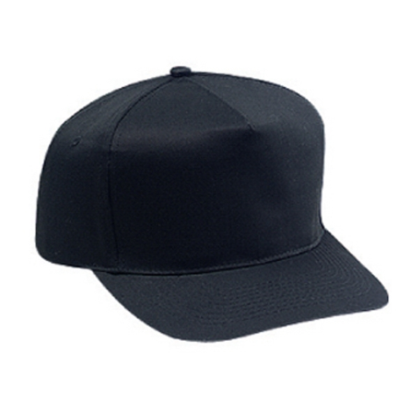 Structured Five Panel Cotton Twill Pro Style Cap With Firm Front Panel. Blank Photo