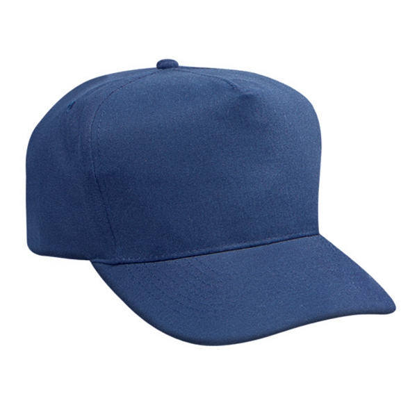 Brushed Cotton Twill Golf Style Cap With And Firm Front Panel. Blank Photo