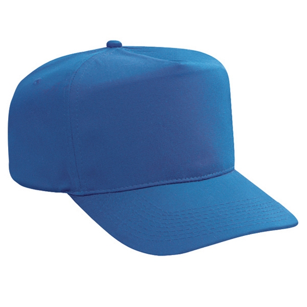 Solid Color High Crown Polyester/cotton Twill Golf Style Cap. Blank Photo