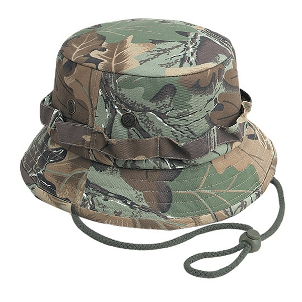 Camouflage 100% Cotton Twill Bucket Hat. Blank Photo