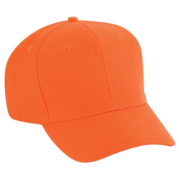 Neon Polyester Twill Six Panel Pro Style Cap. Blank Photo