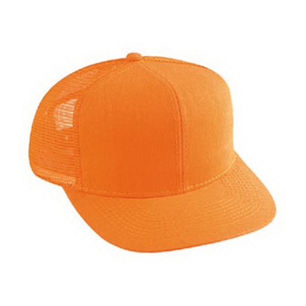 Structured Neon Cotton Twill Pro Style Mesh Back Cap With Six Panels. Blank Photo