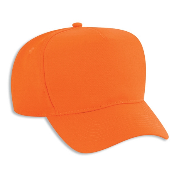 Neon Polyester Twill Low Crown Golf Style Cap. Blank Photo