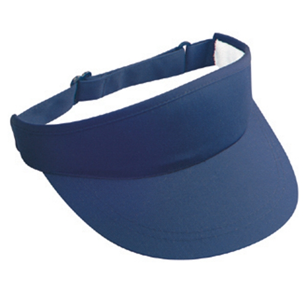 Deluxe Polyester/cotton Twill Sun Visor With Foam Lining. Blank Photo