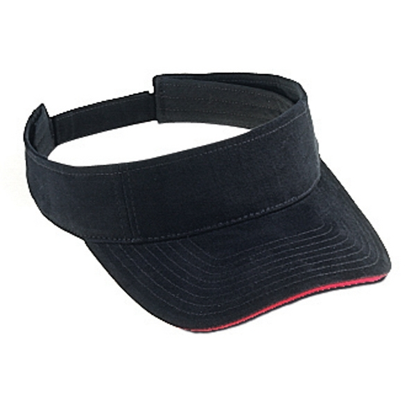 Superior Brushed Cotton Twill Sun Visor With Sandwich Visor. Blank Photo
