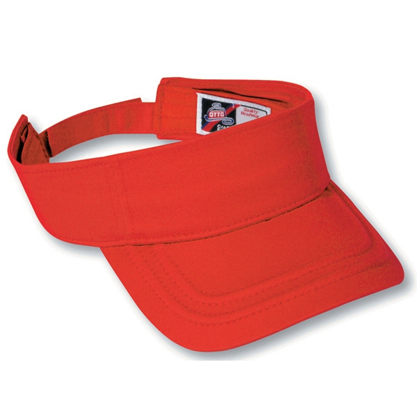 Deluxe Cotton Twill Sun Visor With Adjustable Hook And Loop. Blank Photo