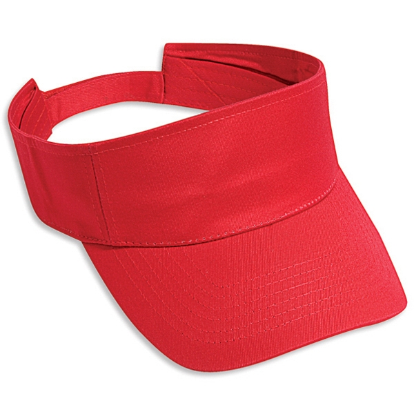 Solid Color Cotton Twill Sun Visor With Adjustable Hook And Loop. Blank Photo
