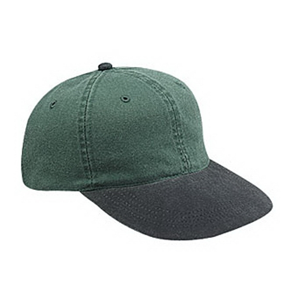 Youth Two-tone Washed Pigment Dyed Cotton Twill Six Panel Low Profile Cap. Blank Photo