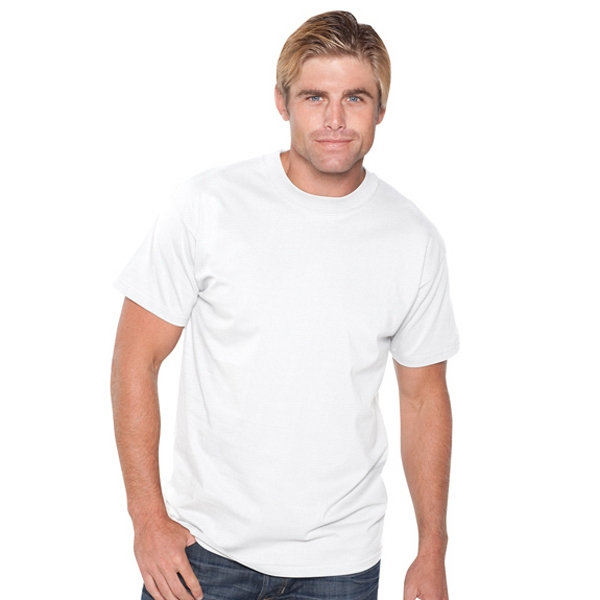 Comfy Tee (r) - White S- X L - Unisex 6.1 Oz Heavyweight Jersey Knit T-shirt. Blank Photo