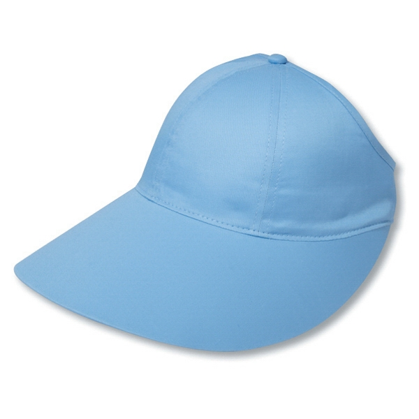 Unstructured Cotton Twill Ponytail Pro Style Cap With Extra Large Visor. Blank Photo