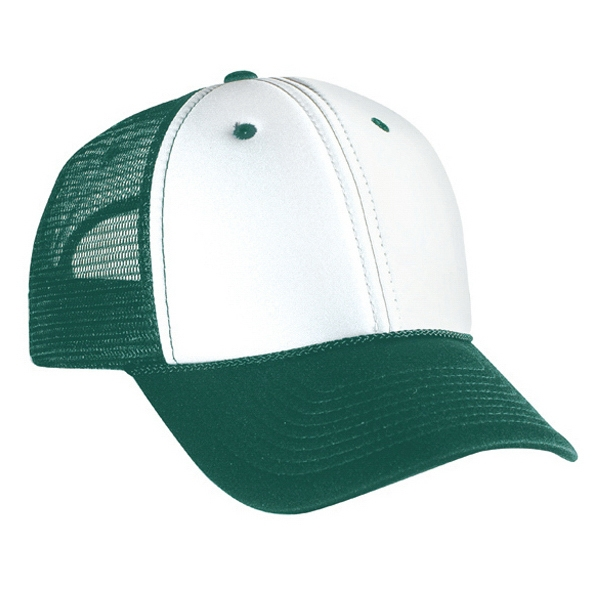 Two Tone Polyester Foam Front Pro Style Mesh Back Cap. Blank Photo