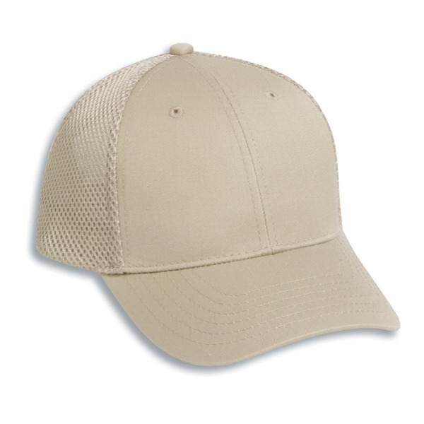 Deluxe Cotton Twill Pro Style Air Mesh Back Cap With Low Fitting. Blank Photo