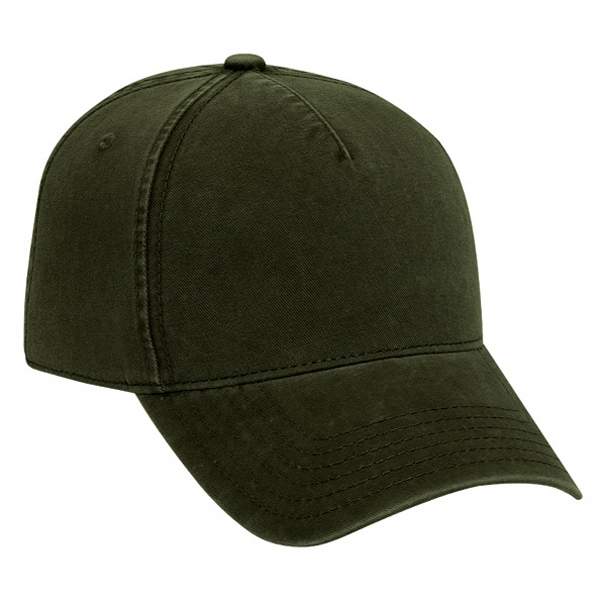 Low Fitting, Structured Five Panel Cotton Twill Low Profile Pro Style Cap. Blank Photo