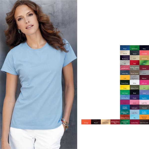 Gildan (r) - Colors S- X L - Ladies' Heavywight Cotton T-shirt Blank Product Photo