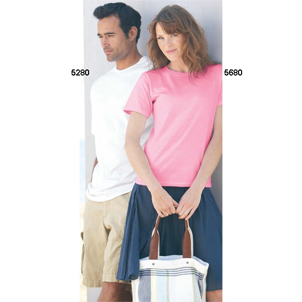Hanes (r) - Colors S- X L - Adult Preshrunk 5.2 Oz Cotton T-shirt. Blank Product Photo