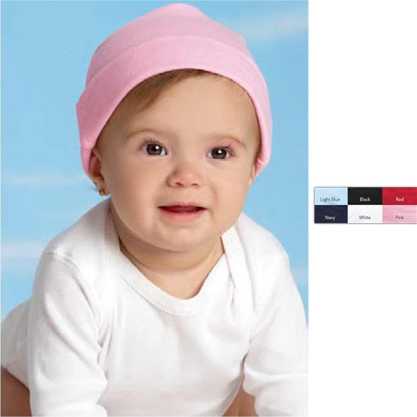 Rabbit Skins - Colors - Infant Baby Rib Cap. Blank Product Photo