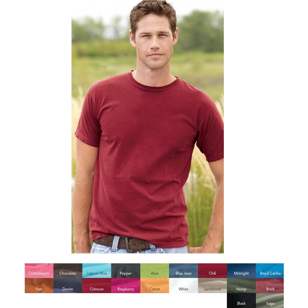 Comfort Colors - 2 X L - Short Sleeve Pigment Dyed T-shirt 100% Combed Ringspun Cotton. Blank Product Photo