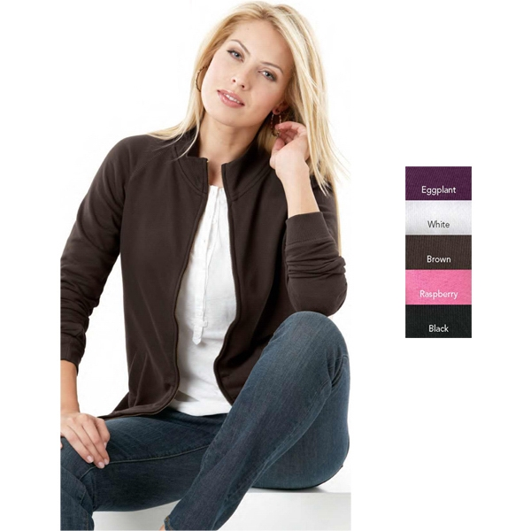 L.a.t Sportswear (r) - S- X L - Ladies' 8.0 Oz. 60% Cotton/40% Polyester French Terry Cadet Jacket. Blank Product Photo