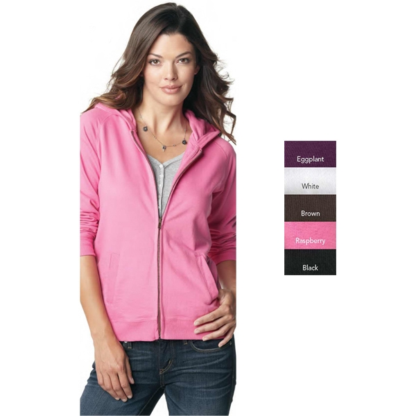 L.a.t Sportswear (r) - 2 X L - Ladies' 8.0 Oz. 60% Cotton/40% Polyester French Terry Full Zip Hooded Jacket Photo