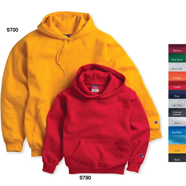Champion (r) Eco (r) - Colors S- X L - Hooded Sweatshirt 9., Oz 50% Cotton/50% Polyester, Coverstitching Throughout Photo