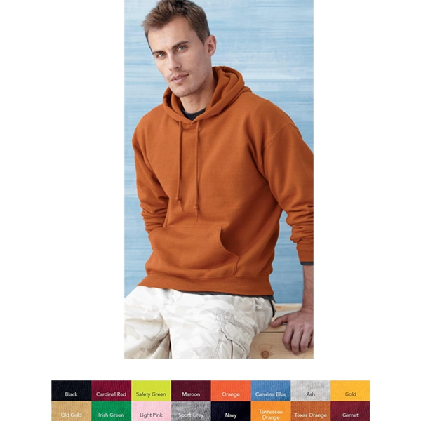 Gildan (r) - S- X L Heathers - Adult Hooded Sweatshirt Made Of 9.3 Oz., 50% Cotton/50% Polyester. Blank Product Photo