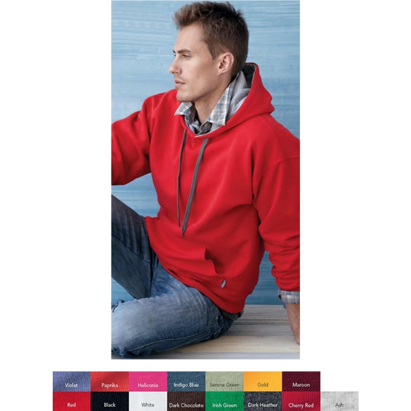 Gildan (r) - Heathers 2 X L-3 X L - Hooded Sweatshirt With Contrast-color Lining. Blank Product Photo